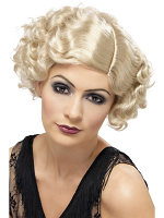 20'S Flirty Flapper Wig,Blonde