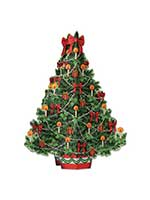 3-D Christmas Tree Centerpiece 11¾""
