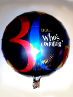 Foil Balloon 30th Black Multi Coloured