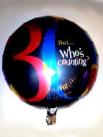 Foil Balloon 30th Black Multi Coloured