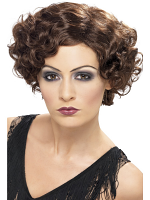 20'S Flirty Flapper Wig,Brown