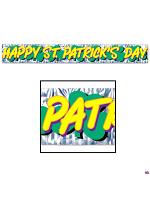 St Patrick's Day Banner Foil Fringed