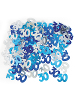 Birthday Glitz Blue - 30th Birthday Confetti