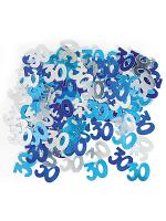 Birthday Glitz Blue - 30th Birthday Confetti