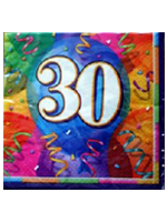 30th Birthday Brilliant Party Napkins  ( 3 only left in stock )