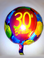 Foil Balloon 30th BIRTHDAY With Balloons