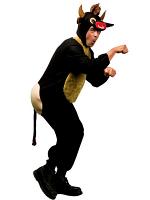 Raging Bull Animal Costume (Jumpsuit Headpiece Mask)