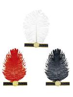 Charleston Headband W/ Feather - 3 Colours
