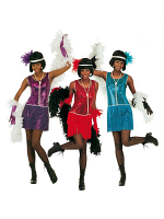 DELUXE FLAPPER COSTUME - 3 COLOURS (DRESS HEADBAND)