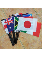 "Rugby World Cup 2019 medium hand flag (20 flags Size 9″x6"")"