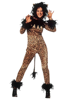 Tigresses Costume (Jumpsuit Headpiece)