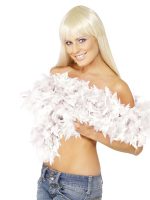White Feather Boa - 2 Per Unit