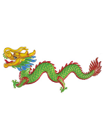 3d Oriental Dragon Decoration