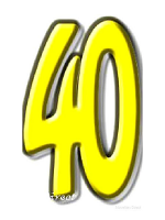 40 Forty Cardboard Cutout