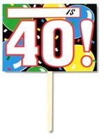 40th Birthday Garden Sign