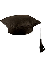 Fabric Mortar Board Hat