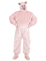 Plush Pig Costume (Costume Gloves Shoe Covers Mask)