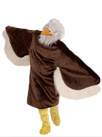 Plush Eagle Costume (Costume Boot Covers Mask)