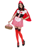 Red Capelet (Dress W/Petticoat Corset Apron Capelet)