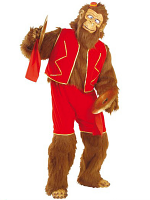 Crazy Monkey Plush Costume (Jumpsuit Shorts Vest Hands/Feet)