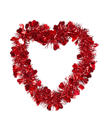 St. Valentine's Day Tinsel Heart