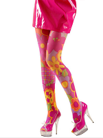 PANTYHOSE - FLOWER POWER PINK