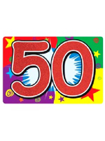 50 Glittered Sign