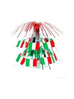 Mini Italian Flag Cascade Centerpiece 19cm (Quantity 1)