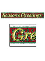 "Metallic Season's Greetings Fringe Banner 8"" x 5'"