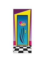 "I Love The 90's Door Cover 30"" X 6'"