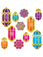 Foil Lantern & Mandala Cutouts