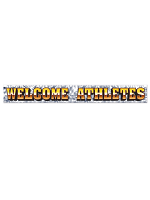 Metallic Welcome Athletes Fringe Banner