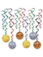Award Medal Whirls