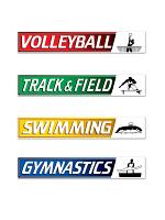 Summer Sports Street Sign Cutouts