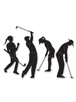 Golf Player Silhouettes