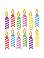 Mini Birthday Candle Cutouts