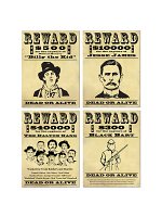 Wanted Sign Cutouts