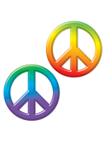 Plastic Peace Signs