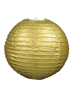 Paper Lanterns (Pack Of 3) - Gold