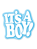 It's A Boy! Cutout