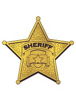 Foil Sheriff Badge Silhouette