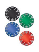 Glittered Foil Poker Chip Cutouts