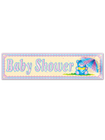 Baby Shower Sign Tissue Parasol