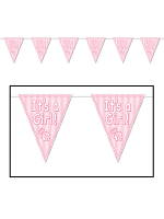 It's A Girl! Pennant Banner