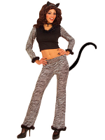Cat Costume (Top Pants W/Tail Ears Choker)