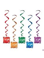 Happy Birthday Hanging Whirls