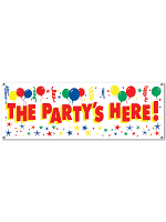 The Party's Here! Sign Banner