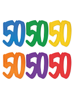 50  Foil Silhouettes