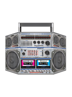 Boom Box Stand-Up Decoration