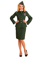 ARMY OFFICER (JACKET SHIRT COLLAR SKIRT SIDECAP)